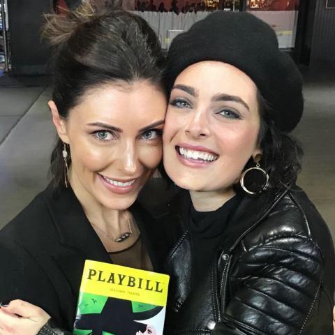 Aimée with Hannah Corneau of Wicked as Elphaba