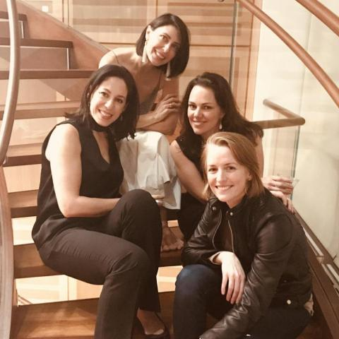 Aimée with composer and Maestra.org Founder Georgia Stitt, Composer Carmel Dean and Producer Jenny Niederhoffer